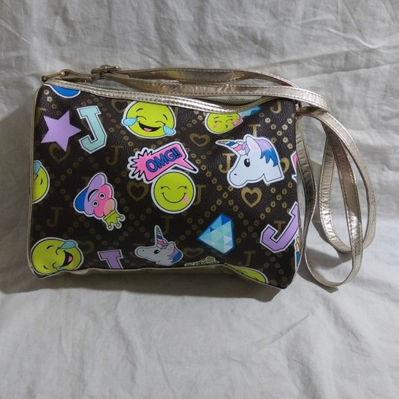 Justice Other - Justice Girl's Happy Unicorn Emoji Handbag Purse